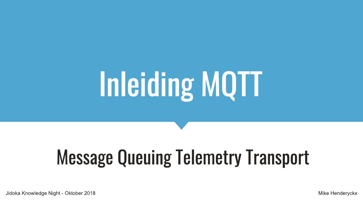 Jidoka | MQTT: An internet of things protocol