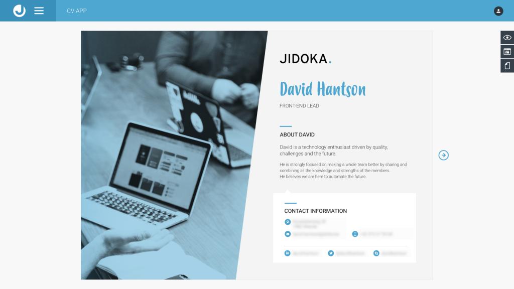 Redesigning a custom CV application