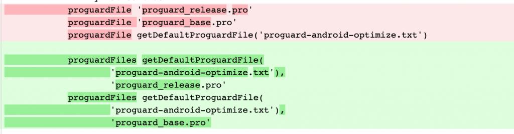 AndroidX proguardFile