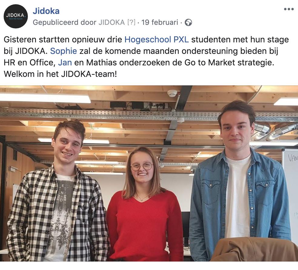 JIDOKA interns Hogeschool PXL