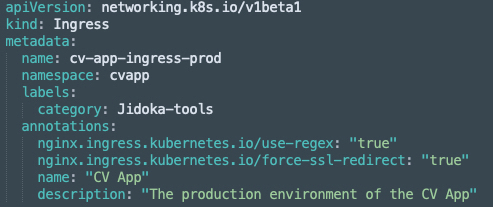 Tool data stored by using annotations and labels on existing Kubernetes deployments