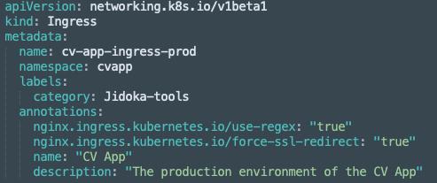 Tool gegevens worden opgeslagen met behulp van annotaties en labels op bestaande Kubernetes-deployments